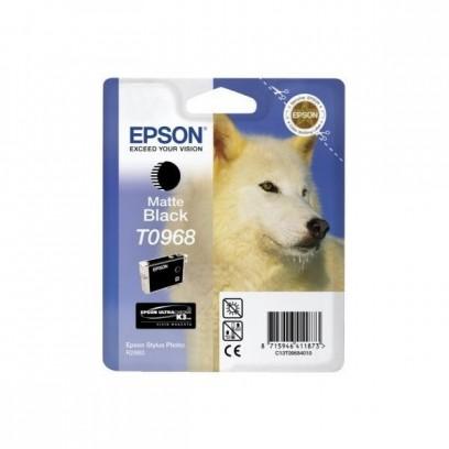 Epson originální ink C13T09684010, matte black, 13ml, Epson Stylus Photo R2880