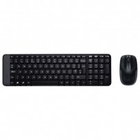 Logitech Sada klávesnice MK220, AAA, klasická, 2.4 [GHz], černá, bezdrátová, CZ, s bezdrátovou optickou myší