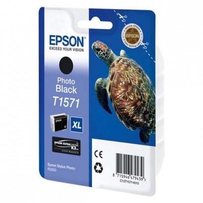 Epson originální ink C13T15714010, photo black, 25,9ml, Epson Stylus Photo R3000