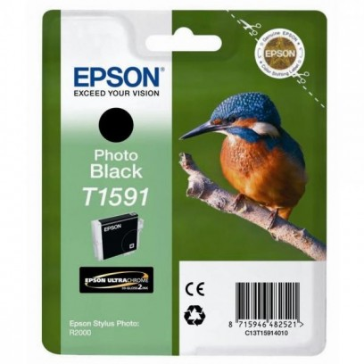 Epson originální ink C13T15914010, photo black, 17ml, Epson Stylus Photo R2000
