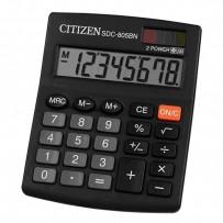 Citizen Kalkulačka SDC805BN, SDC805NR, černá, stolní, osmimístná, duální napájení