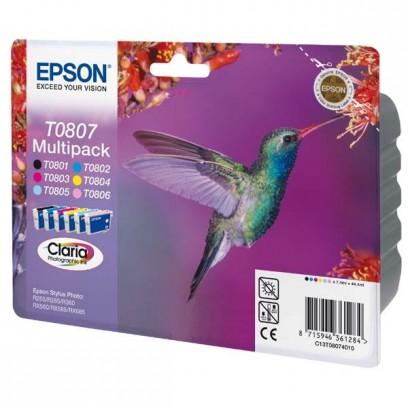 Epson originální ink C13T08074011, CMYK/light C/light M, Epson Stylus Photo PX700W