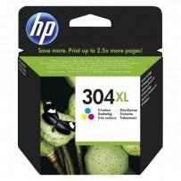 HP originální ink N9K07AE, HP 304XL, Tri-color, blistr, 300str., 7ml, HP DeskJet 2620,2630,2632,2633,3720,3730,3732,3735