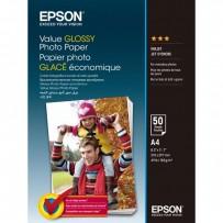 Epson Value Glossy Photo Paper, foto papír, lesklý, bílý, A4, 200 g/m2, 50 ks, C13S400036, inkoustový