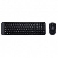 Logitech Sada klávesnice MK220, AAA, klasická, 2.4 [Ghz], černá, bezdrátová, US, s bezdrátovou optickou myší, 2x AA baterie p...