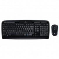 Logitech Sada klávesnice MK330, AAA, multimediální, 2.4 [Ghz], černá, bezdrátová, US, s bezdrátovou optickou myší, 1x AA bate...