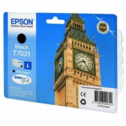 Epson originální ink C13T70314010, L, black, 1200str., Epson WorkForce Pro WP4000, 4500 series