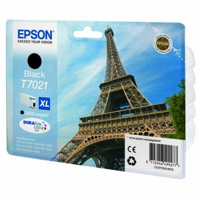 Epson originální ink C13T70214010, XL, black, 2400str., Epson WorkForce Pro WP4000, 4500 series