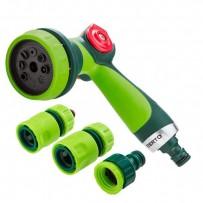 Verto set pistolový postřikovač 15G713, zelený