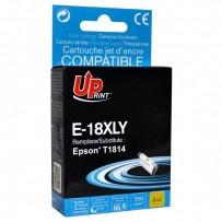 UPrint kompatibilní ink s C13T18144010, 18XL, yellow, 450str., 10ml, E-18XLY, pro Epson Expression Home XP-102, XP-402, XP-40...