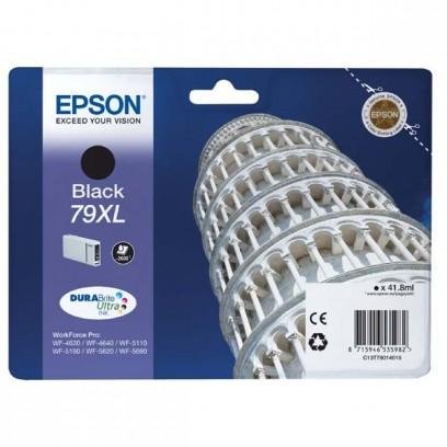 Epson originální ink C13T79014010, 79XL, XL, black, 2600str., 42ml, 1ks, Epson WorkForce Pro WF-5620DWF, WF-5110DW, WF-5690DWF