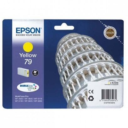 Epson originální ink C13T79144010, 79, L, yellow, 800str., 7ml, 1ks, Epson WorkForce Pro WF-5620DWF, WF-5110DW, WF-5690DWF