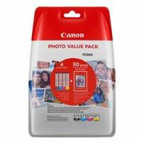 Sada Canon CLI-571 multipack (4ks) + 50x fotopapír