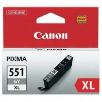 Canon originální ink CLI551GY XL, grey, 11ml, 6447B001, high capacity, Canon PIXMA iP7250, MG5450, MG6350, MG7550