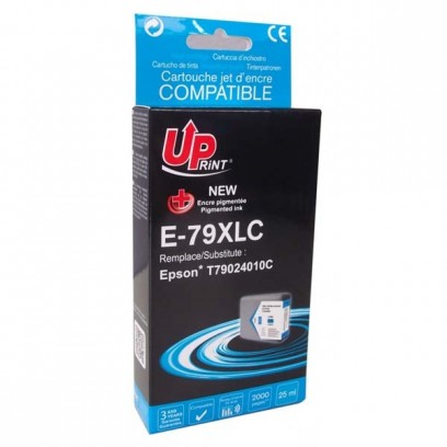 UPrint kompatibilní ink s C13T79024010, C13T79024010, 79XL, XL, cyan, 2000str., 25ml, E-79XLC, 1ks, pro Epson WorkForce Pro W...