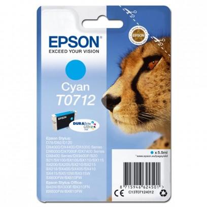 Epson originální ink C13T07124022, cyan, blistr s ochranou, 5,5ml, Epson D78, DX4000, DX4050, DX5000, DX5050, DX6000, DX605