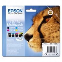 Sada Epson T0715 multipack - černá + modrá + červená + žlutá (4ks), blistr