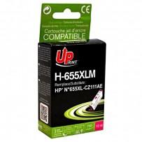 UPrint kompatibilní ink s CZ111AE, HP 655, magenta, 750str., 12ml, H-655XLM, pro HP Deskjet Ink Advantage 3525, 5525, 6525, 4...