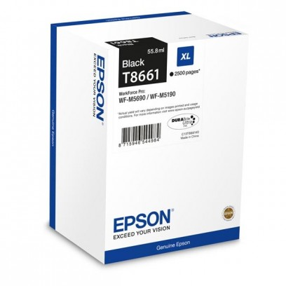 Epson originální ink C13T865140, T8651, XXL, black, 10000str., 221ml, 1ks, Epson WorkForce Pro WF-M5690DWF