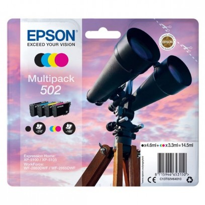 Sada Epson 502, černá + modrá + červená + žlutá