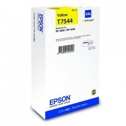 Epson originální ink C13T754440, T7544, XXL, yellow, 69ml, Epson WorkForce Pro WF-8590DWF