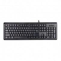 A4Tech klávesnice KR-92, klasická, černá, drátová (USB), CZ, odolná proti polití
