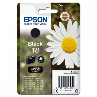 Epson originální ink C13T18014012, T180140, black, 5,2ml, Epson Expression Home XP-102, XP-402, XP-405, XP-302