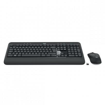 Logitech Sada klávesnice MK540, AA, multimediální, 2.4 [Ghz], černá, bezdrátová, CZ/SK, s bezdrátovou optickou myší, nano při...