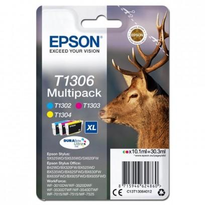 Epson originální ink C13T13064012, T1306, cyan/magenta/yellow, 30,3ml, Epson Stylus Office BX320FW