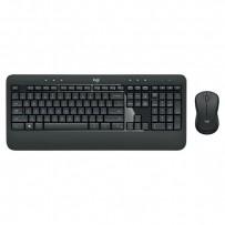 Logitech Sada klávesnice MK540, AA, multimediální, 2.4 [Ghz], černá, bezdrátová, US, s bezdrátovou optickou myší, nano přijím...