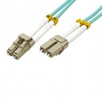 Optický Patchcord Multi mode (50/125), LC-LC/3m, modrozelený, economy