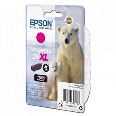 Epson originální ink C13T26334012, T263340, 26XL, magenta, 9,7ml, Epson Expression Premium XP-800, XP-700, XP-600
