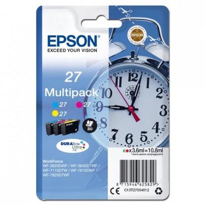 Epson originální ink 13T27054012, 27, color, 3x3,6ml, Epson WF-3620, 3640, 7110, 7610, 7620