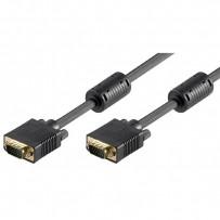 Kabel VGA (D-sub) M- VGA (D-sub) M, 2m, zlacené konektory, stíněný, černá