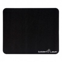 Podložka pod myš, ultra tenká, neklouzavá, černá, 22x18 cm, Logo