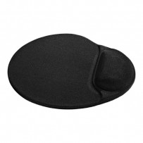 Podložka pod myš, polyuretan, černá, 26x22.5cm, 5mm, Defender, lycrový povrch