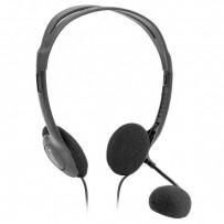 Defender Aura HN-102, sluchátka s mikrofonem, ovládání hlasitosti, černá, 2x 3.5 mm jack