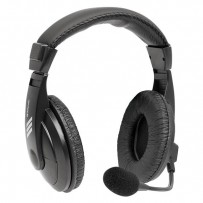 Defender Gryphon 750, sluchátka s mikrofonem, ovládání hlasitosti, černá, uzavřená, 2x 3.5 mm jack