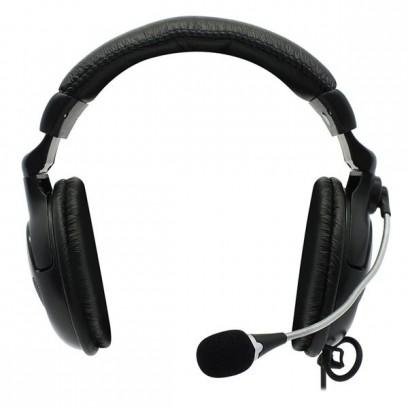 Defender Orpheus HN-898, sluchátka s mikrofonem, ovládání hlasitosti, černá, uzavřená, 2x 3.5 mm jack