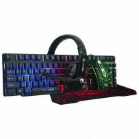 Marvo Sada klávesnice CM370, herní, černá, drátová (USB), US, s herní myší, podložkou a sluchátky, membránová, podsvícená