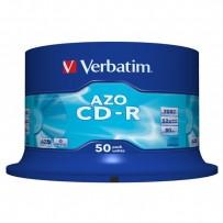 Verbatim CD-R, 43343, DataLife PLUS, 50-pack, 700MB, Super Azo, 52x, 80min., 12cm, Crystal, bez možnosti potisku, cake box, S...