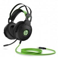 HP Pavilion 600 headset, sluchátka s mikrofonem, ovládání hlasitosti, černo-zelená, 7.1 surround (virtuálně), USB herní