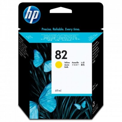 HP originální ink C4913A, HP 82, yellow, 69ml, HP DesignJet 500, PS, 800, 815, cc800ps, 4200