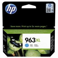 HP originální ink 3JA27AE, HP 963, cyan, 1600str., 22.92ml, high capacity, HP Officejet Pro 9010, 9012, 9014, 9015, 9016, 9019/P