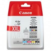 Canon originální ink CLI-581 XXL CMYK Multi Pack, CMYK, 4*11.7ml, 1998C005, very high capacity, Canon PIXMA TR7550, TR8550, T...