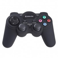 Gamepad Defender Game Racer Turbo RS3, 12tl., USB, černý, vibrační, Windows XP/Vista/7