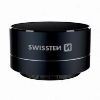 SWISSTEN bluetooth reproduktor, i-METAL, 3W, černý, regulace hlasitosti, Bluetooth+USB konektorkovový