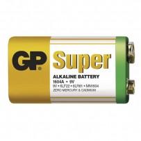 Baterie alkalická, R61, 9V, GP, fólie, 1-pack, SUPER