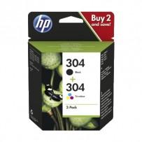 HP originální ink sada 3JB05AE, HP 304, color, 100color-120Bkstr., HP Deskjet 3720, 3721, 3722, 3723, 3724, 3725, 3755