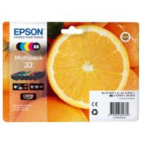 Epson originální ink C13T33374011, T33, CMYK, 6,4/4x4,5ml, Epson Expression Home a Premium XP-530,630,635,830